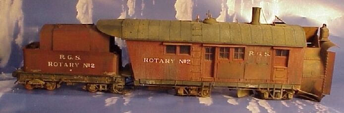 O/On3/On30 WISEMAN MODEL SERVICES RIO GRANDE SOUTHERN ROTARY SNOW PLOW NO. 2 KIT