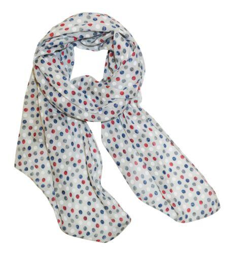 Damen Seidenschal Punkte Puenktchen Pünktchen Schals Halstuch Seiden Silk Tücher