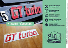Kit Renovation Monogramme GT TURBO Autocollants Stickers Renault 5 R5 GTT Repair