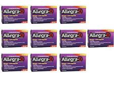 ALLEGRA D 12 HOUR ALLERGY 10 BOXES OF 30 EACH 300 TABLETS EXPIRE 2019 NEW IN BOX