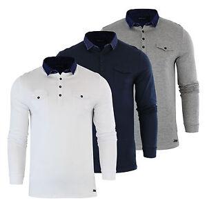 Mens-Polo-T-Shirt-Brave-Soul-Gospel-Denim-Collared-Long-Sleeve-Casual-Top