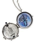 Doctor Who Tardis Compass Locket Necklace Dr Gift Rare With Tags