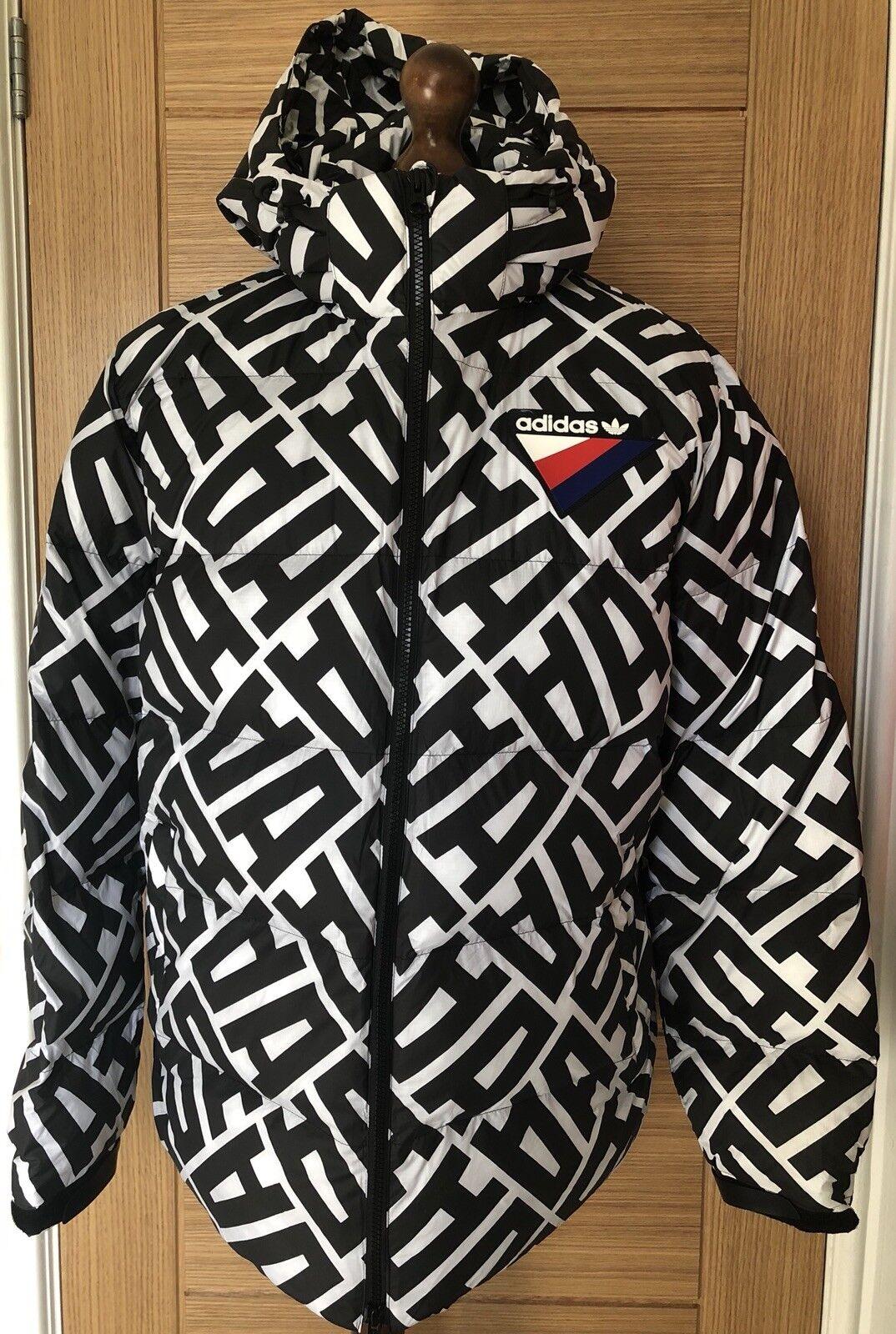 NEW Adidas Originals AOP Heavy Graphic Puffa Puffer Coat SZ Medium RARE SAMPLE