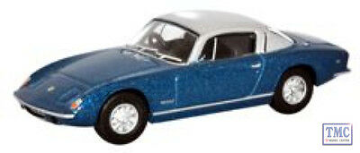 76LE002 Oxford Diecast Lotus Elan Plus2 Lagoon Blue/Silver 1/76 Scale OO Gauge