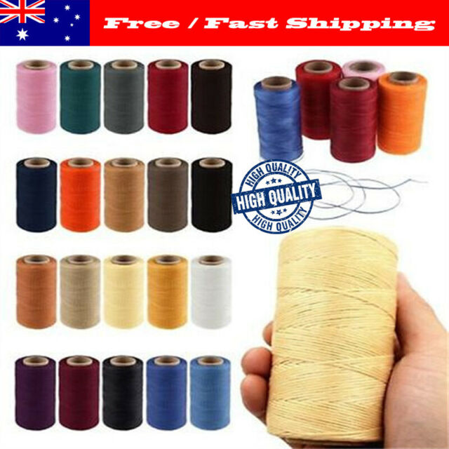 65/260M 150D 1MM Leather Sewing Waxed Thread Hand Wax Stitching Repair Cord