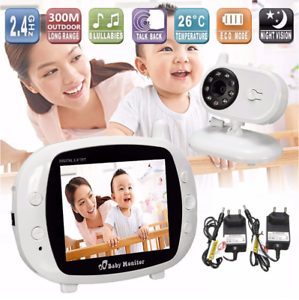 BABY Monitor Wireless Visione notturna Video Audio Monitor LED 3.5'' WIFI Q-A127