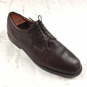 JOHNSTON-MURPHY-Passport-Dress-Shoes-13-M-Brown-Oxford-Leather-Laced-Formal-Mens
