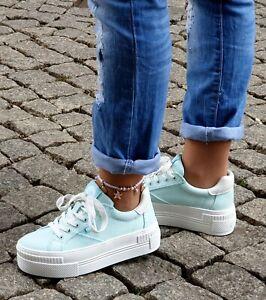 Buffalo Schuhe Paired Mint 16304781 Damen Plateau Sneaker Textil Vegan