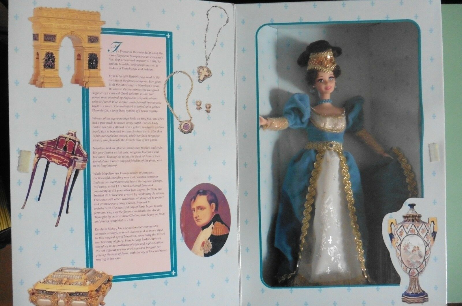 NEUF - Barbie French Lady 1996 The Great Eras Collection - Poupee style Empire