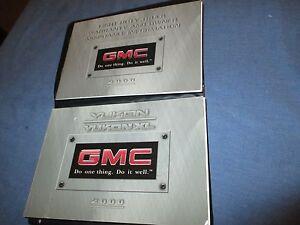 2000 gmc yukon xl pickup owners manual 00 set w case ebay rh ebay co uk 2000 gmc sierra owners manual pdf 2000 gmc sierra owners manual pdf