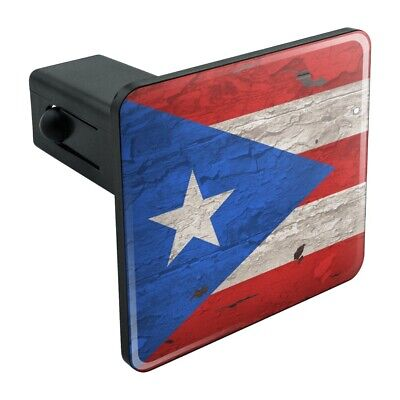 Graphics and More Rustic Distressed Puerto Rico Flag Wood Look Tow Trailer Hitch Cover Plug Insert