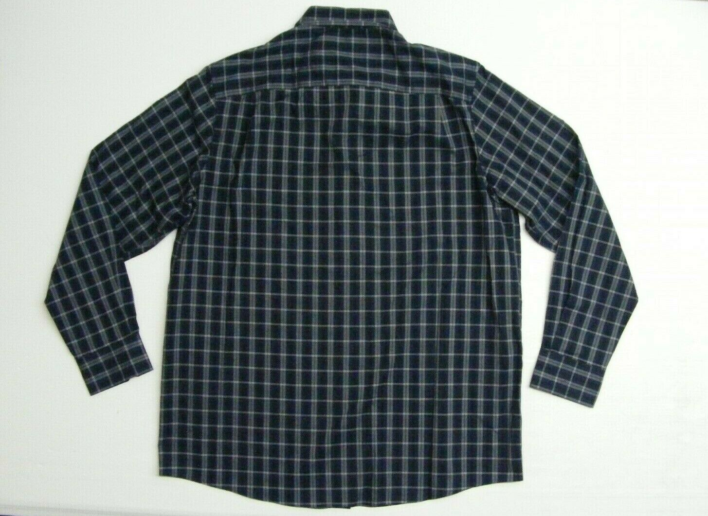 Claiborne Stretch Button Down Shirt Mens Large Tall Sig Navy Long Sleeve NWT