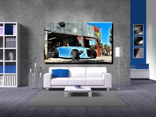 POSTER BILD BILDER XXL POP ART AUTO AMERICAN GARAGE OLDTIMER CAR 150x90