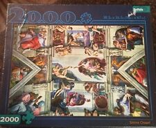 Buffalo Games 2000 Piece Jigsaw Puzzle SISTINE CHAPEL Michelangelo 38.5x26.5 NEW