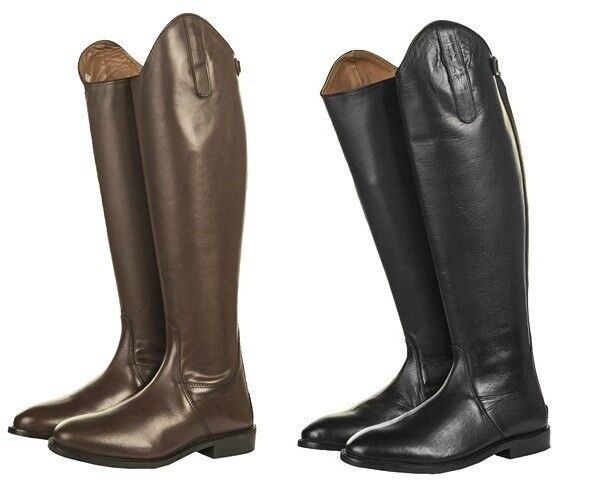 HKM Ladies Tall Horse Riding Boots  Soft Leather Long Length Narrow Width