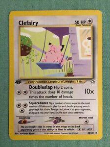 Clefairy Neo Genesis 1st Edition NM 30//111 Pokemon Card.