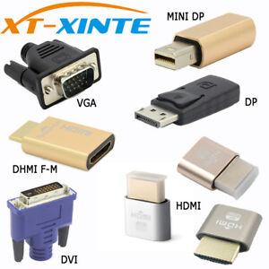 EDID-Connector-VGA-DVI-HDMI-Mini-DP-Displayport-Virtual-Display-Dummy-Adapter