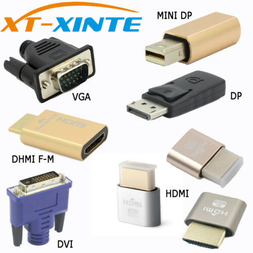 EDID Connector VGA DVI HDMI Mini DP Displayport Virtual Display Dummy Adapter
