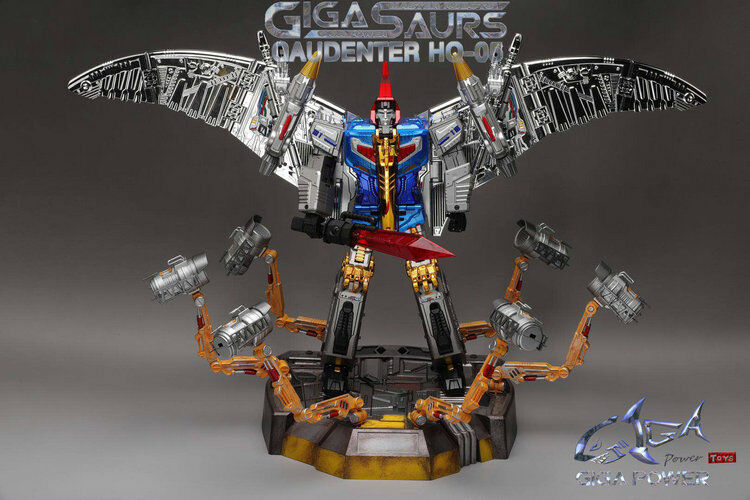 Preorder Transformers TOY GP HQ-05R Alloy Plating Gaudenter G1 Swoop bluee Chorme