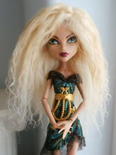 Sunkissed Blonde Tibetan Mohair Lambskin Fur Wig Monster High/Tonner 5.35-5.75""