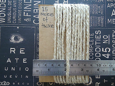 15 Meters THICK Natural Jute TWINE String Craft Scrapbooking Floral Wedding