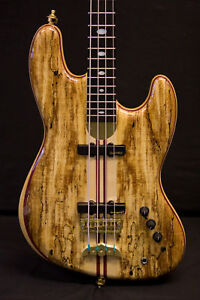 Alembic-Jazz-Bass-4-String-Custom-Spalted-Maple