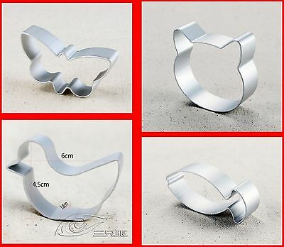 1 set of cat butterfly duck fish shaped Cookie Cake Sugar Metal Cutter Mould