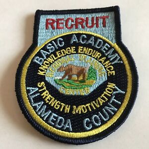 Details about Alameda County California RTC Basic Academy Recruit Patch -  Sheriff, Police