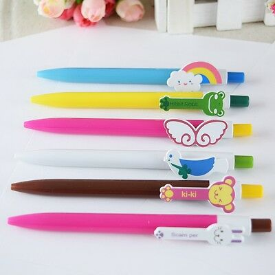 10pcs/lot Cute Colorful Cartoon Pen Ballpoint Pen Office Supplies Novelty Pen