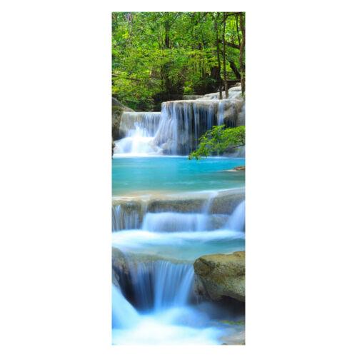 Türbild Wandbild M0485 Tür-Aufkleber Türtapete Wasserfall im Wald Tapete