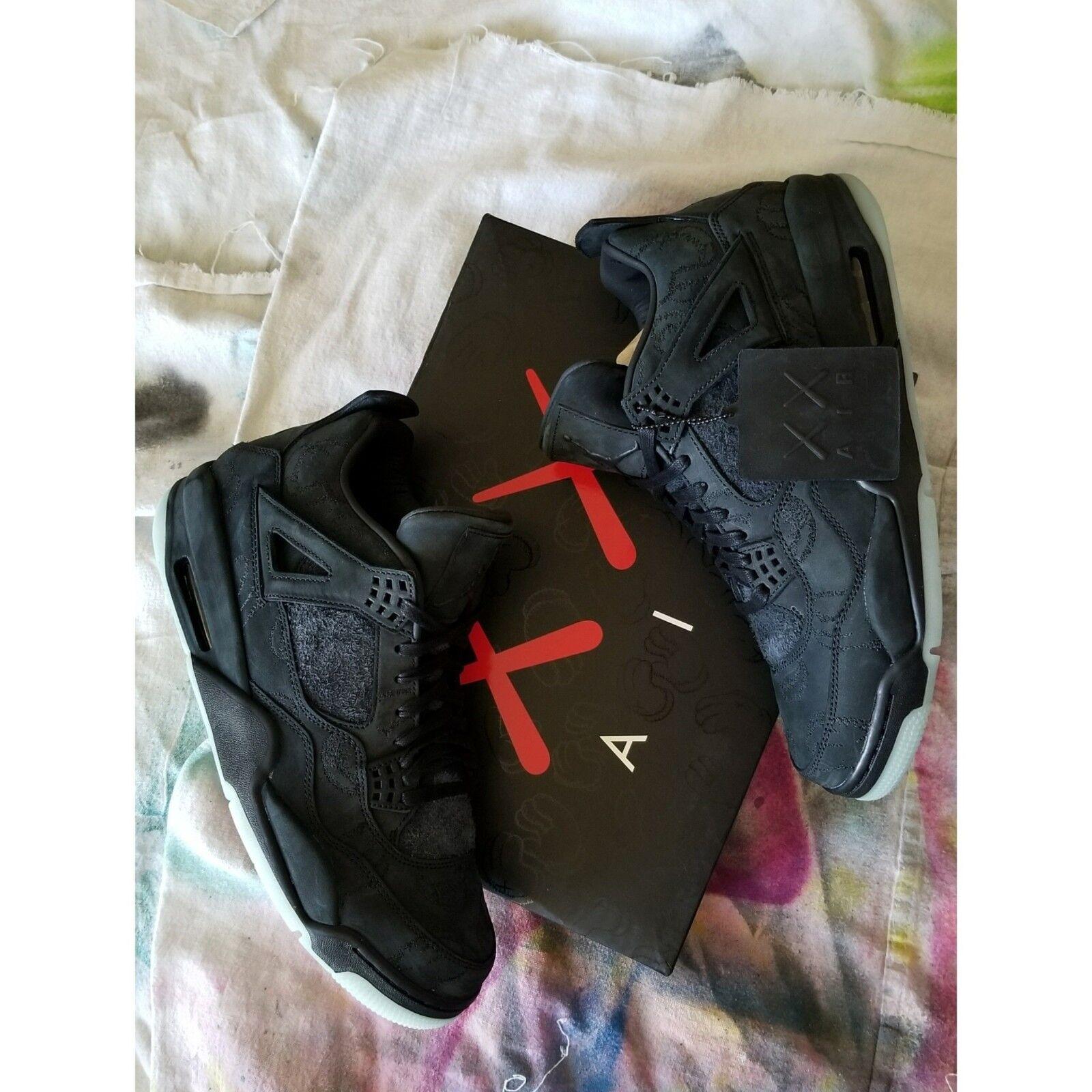 KAWS x AIR JORDAN NIKE 4 Black RETRO, size 12