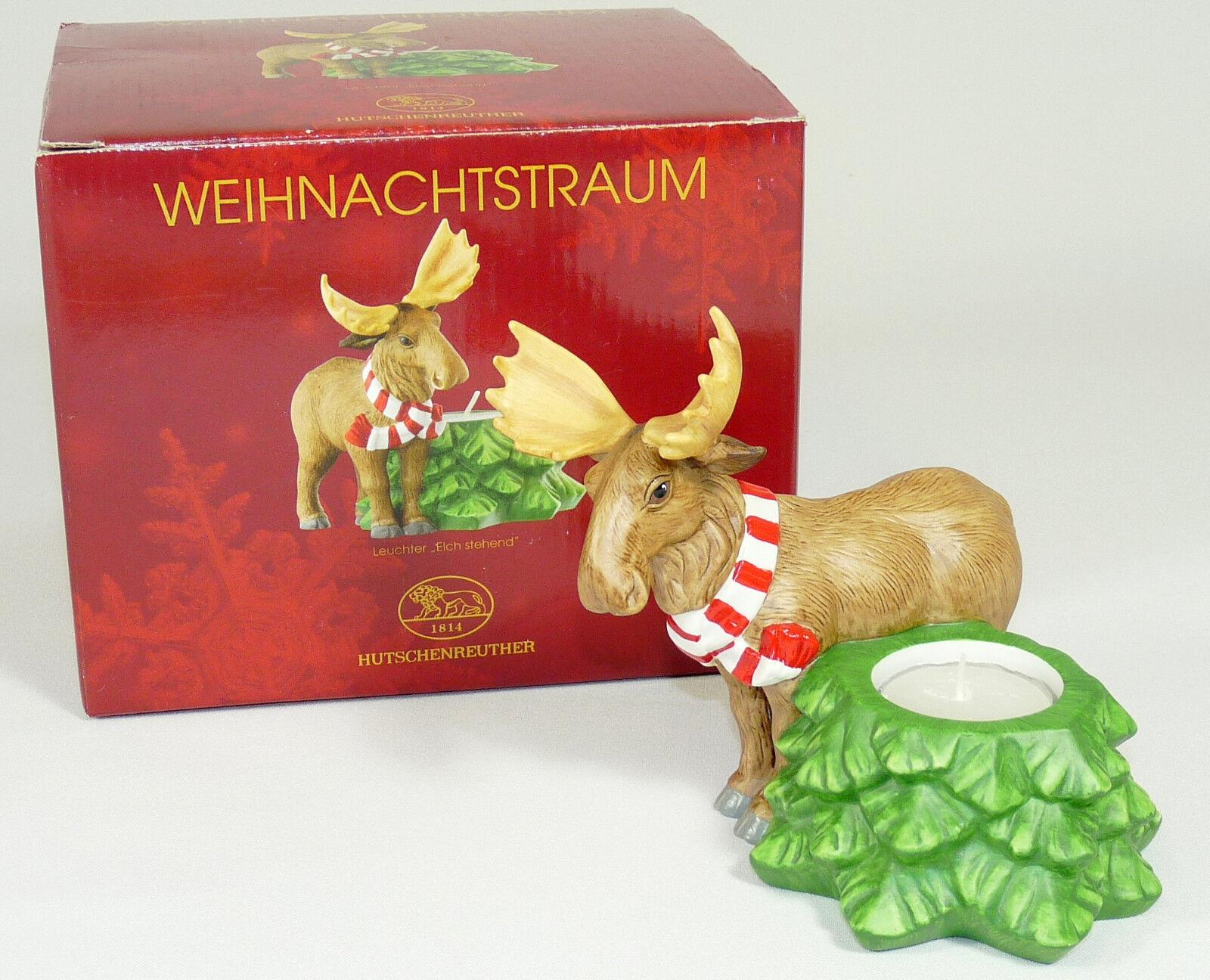 HUTSCHENREUTHER - Leuchter KERZENLEUCHTER Teelicht - WEIHNACHTEN - Elch -mit OVP