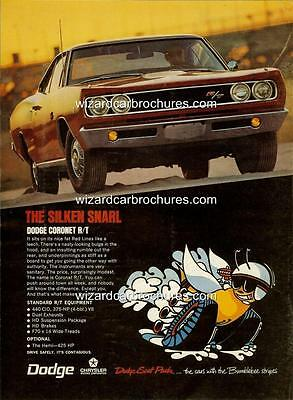 1970 DODGE CORONET RANGE R//T 440 SUPER BEE A3 POSTER AD SALES BROCHURE ADVERT
