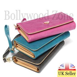 New 2016 Women Clutch Zipper Leather Long Wallet Coin Card Cell Phone Purse