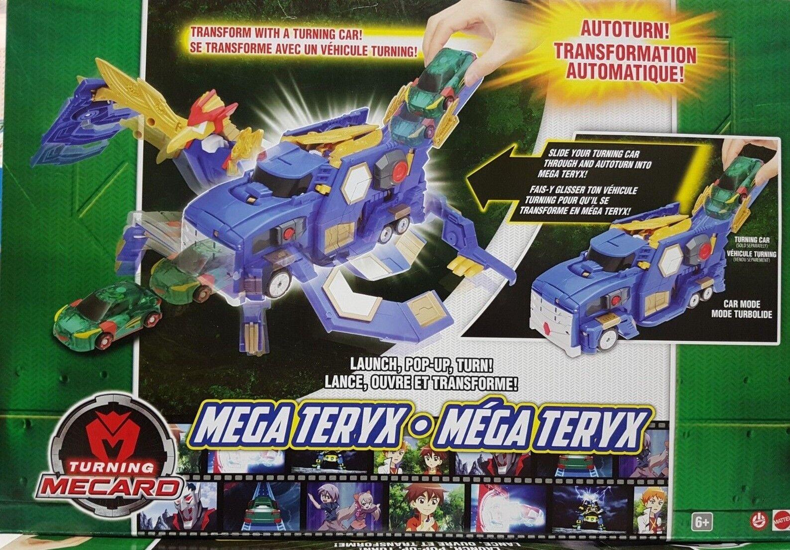 Nun mecard mega - teryx fahrzeug roboterspieizeug mattel nib