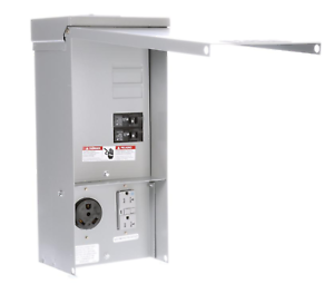 Details about 30 Amp 20 Amp Temporary Power Outlet Panel Receptacle  Electrical Breaker Siemens