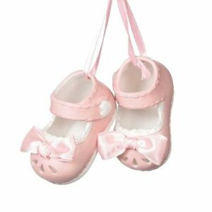 f413b55a068 Image is loading Pair-of-Baby-Girl-Booties-Christmas-Tree-Ornament-