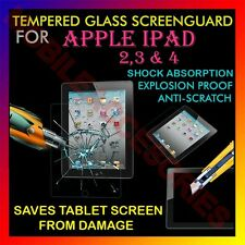 ACM-TEMPERED GLASS SCREENGUARD for APPLE IPAD 2/3/4 TABLET SCRATCH PROTECTOR NEW