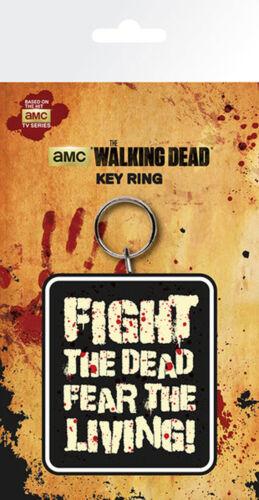 Fight the Dead 4,5x6 The ca Walking Dead Gummi Schlüsselanhänger Keyring