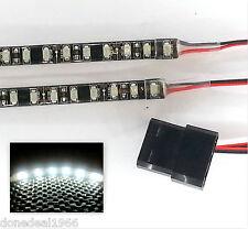 BIANCO LED Modding PC CUSTODIA LUCE (Twin 50cm STRISCE) MOLEX 60cm CODE DBL Densità