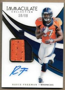 buy online b2d8c f3b5a 2018 Immaculate Royce Freeman RC 10/99 Auto Jersey Patch ...
