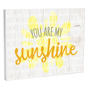 Details About You Are My Sunshine Baby 10 X 8 Wood Print Overlay Wall Art Plaque