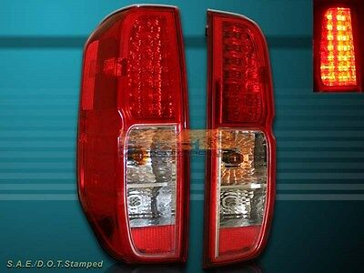 FIT 05 06 07 08 09 10 11 12 13 NISSAN FRONTIER LED TAIL LIGHTS RED//CLEAR