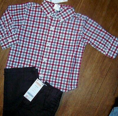 Gymboree Boys Plaid Shirt /& Cargo Shorts Outfit 5 6 14 NWT NEW $56.90