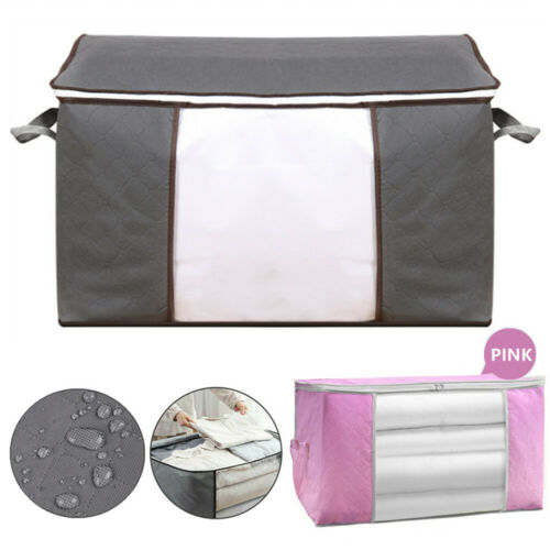 Large Capacity Foldable Storage Bag Organizer For Clothes Blanket Quilt Sweater