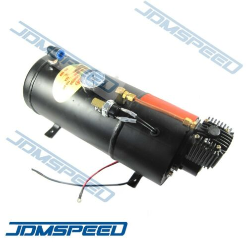 New Train Horn Kit Loud Dual 2 Trumpet w// 120 PSI Air Compressor Complete System