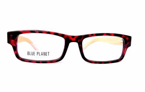 READING EYE GLASSES Eco Friendly Bamboo BLUE PLANET Men Women 1.75 Red Tortoise
