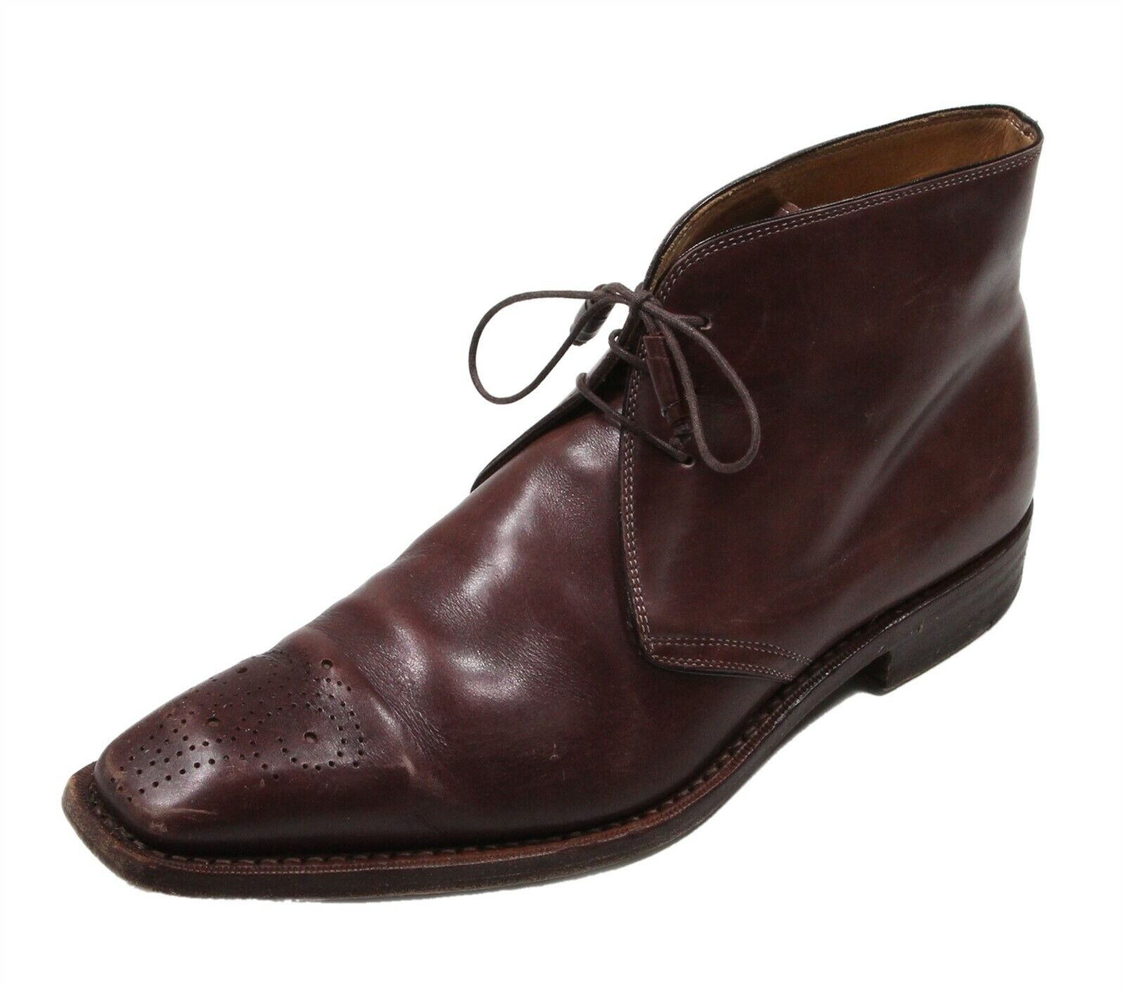 Romano Martegani Brown Ankle Lace-Up Leather Boots Men's US 9.5