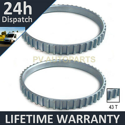 2X FOR ROVER 45 75 MG ZS ZT MGZS MGZT 43 TOOTH 81.95MM ABS RELUCTOR RING CV 0404