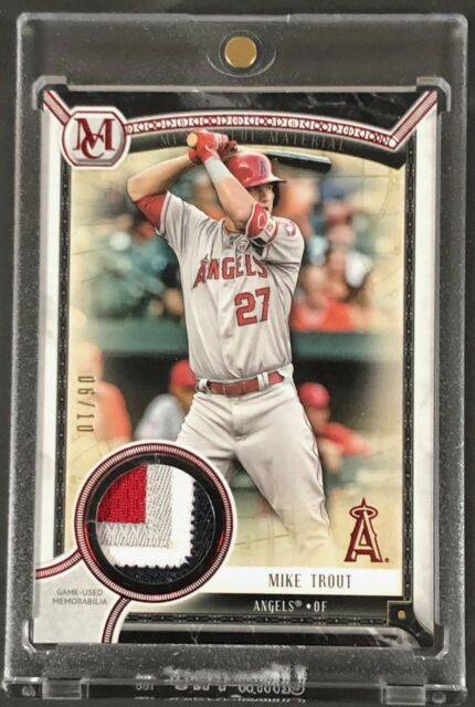 Mike Trout 2018 Topps Museum Red Meaningful Material 4 Color Patch Card #6/10
